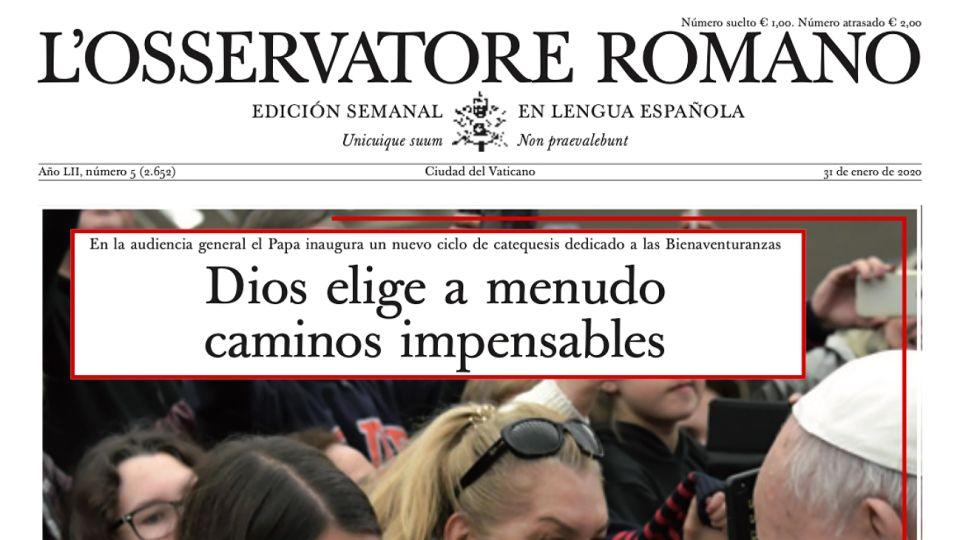 Edición del 31 de enero del Osservatore Romano.