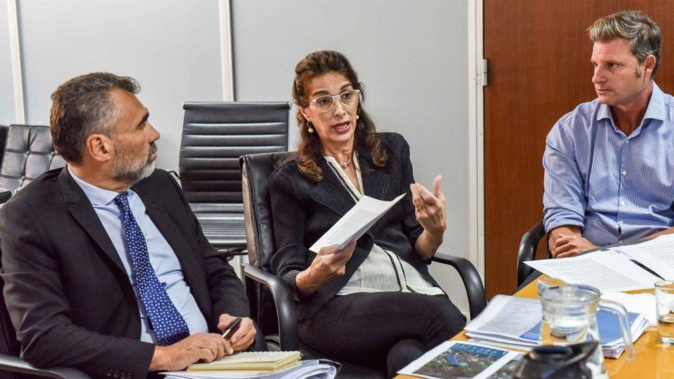 Alejandro Vanoli y María Eugenia Bielsa se reunieron en vistas a relanzar el Procrear.