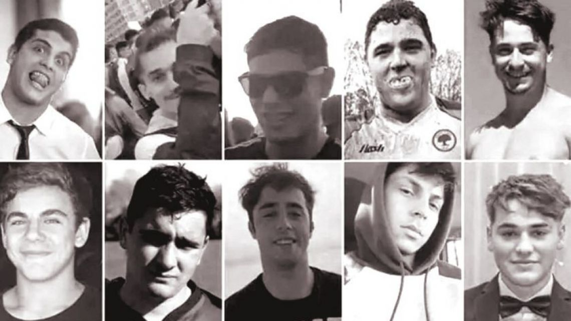 The 10 rugby players accused of murdering Francisco Báez Sosa.