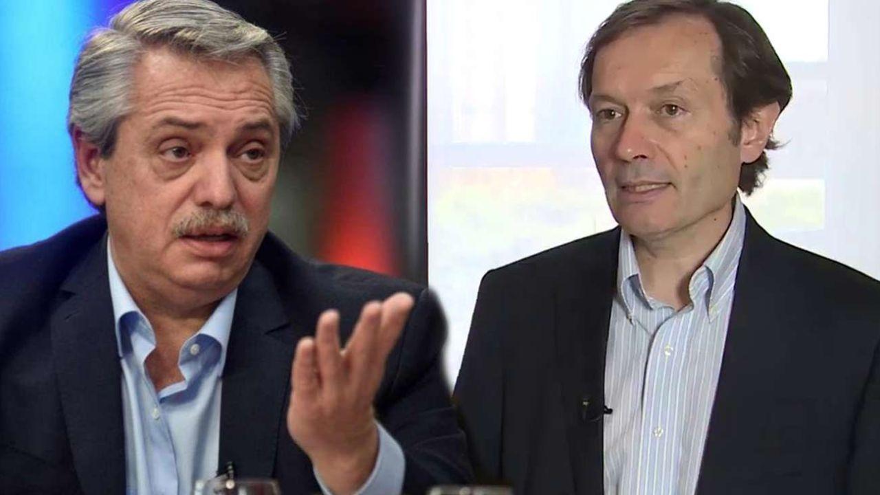 Alberto Fernández y Gustavo Beliz | Foto:cedoc