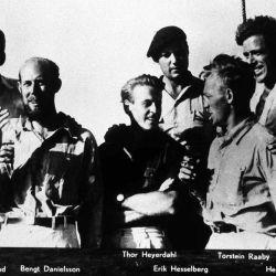La tripulación del Kon-Tiki.