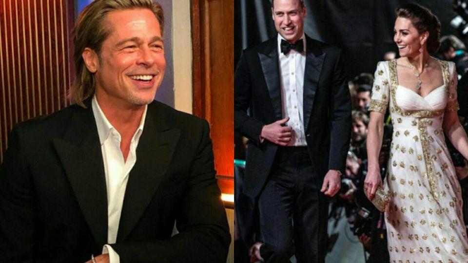 Brad Pitt y la broma que hizo reír al príncipe William y Kate Middleton