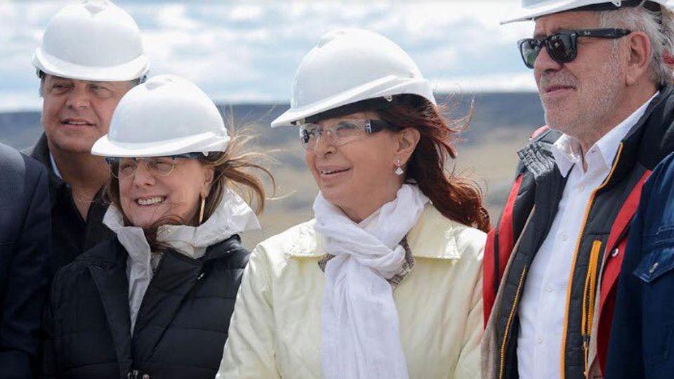 Gerardo Ferreyra y Cristina Fernández de Kirchner en Santa Cruz