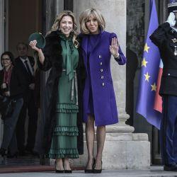 Fabiola Yáñez y Brigitte Macron: su encuentro en París