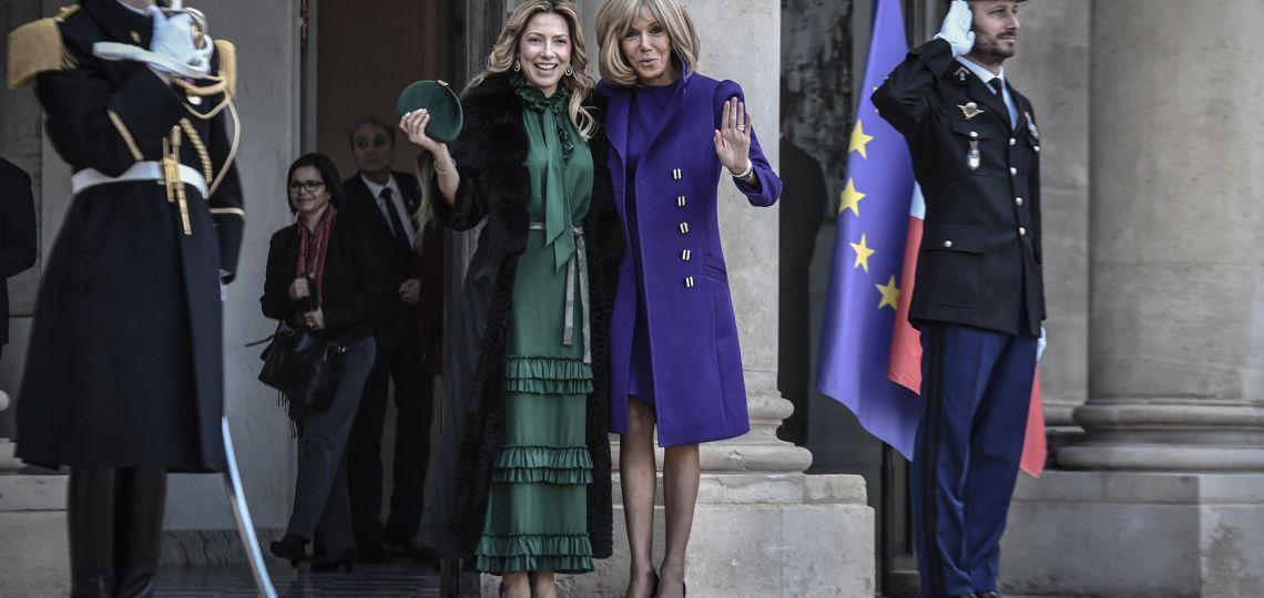 Fabiola Yáñez y Brigitte Macron: el encuentro entre las primeras damas