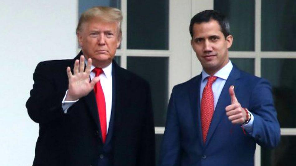 Donald Trump recibió a Juan Guaidó en la Casa Blanca.