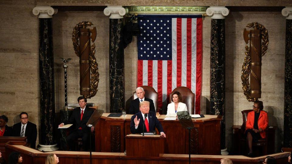 Discurso del estado de la Nación de Donald Trump ante el Congreso en Washington.