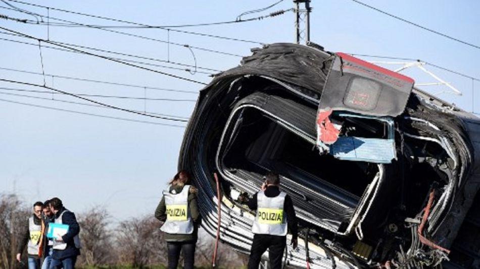 Descarriló un tren en Italia