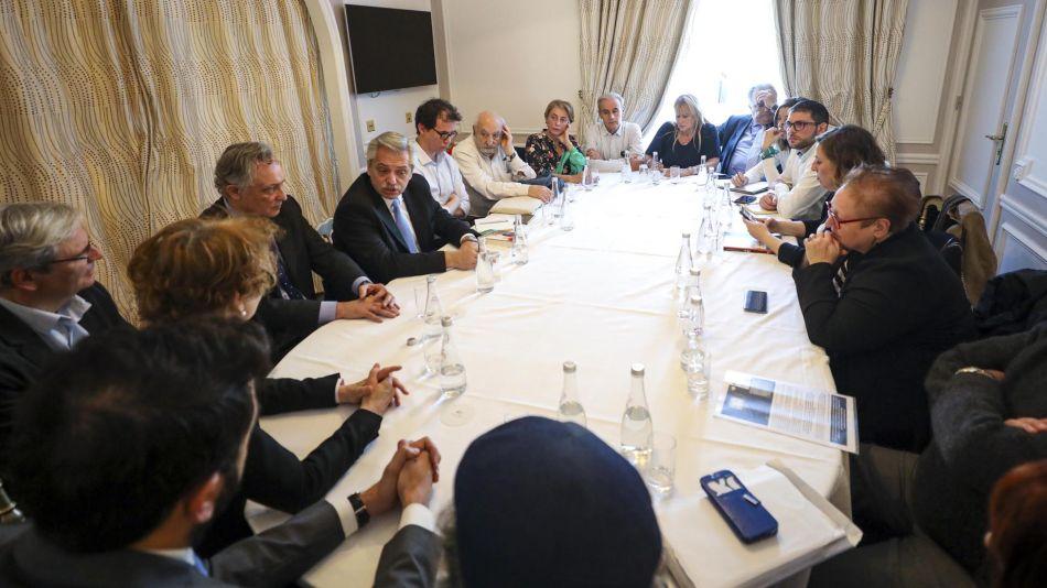 El Presidente en París con DDHH 20200206