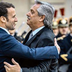 Alberto Fernández y Emmanuel Macron. | Foto:AFP.
