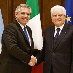 Alberto Fernández y Sergio Mattarella. | Foto:Presidencia de la Nación.