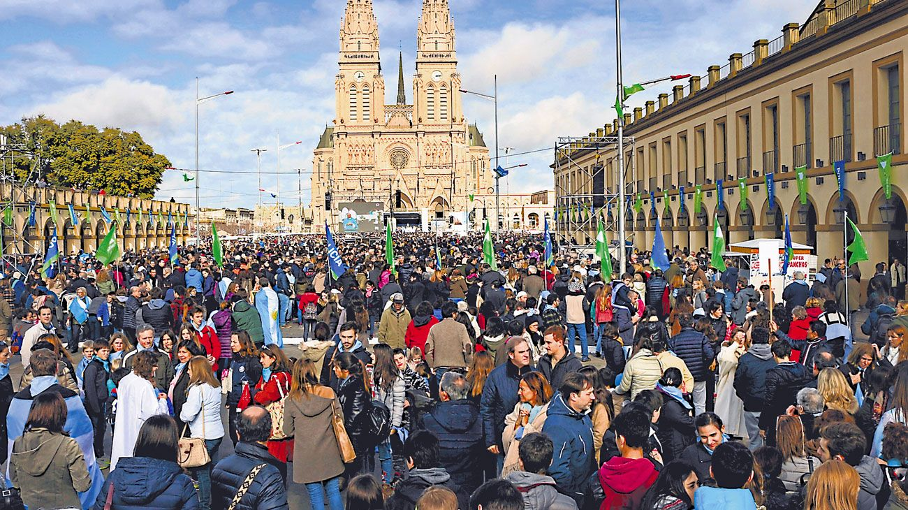 Por la vida. El 8 de marzo convocaron a Luján, tal como hicieron durante el debate de 2018.