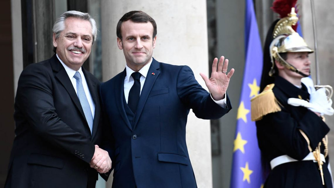Alberto received the support of France's Emmanuel Macron as his administration lays the ground for debt negotiations.