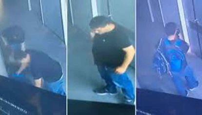 Imprudentes. Ladrones en el Hospital de Niños de La Plata, registrados por una cámara de seguridad antes de robarse un ecógrafo. Para desconectar un aparato de encefalogramas hay que saber cómo funciona para no dañarlo.