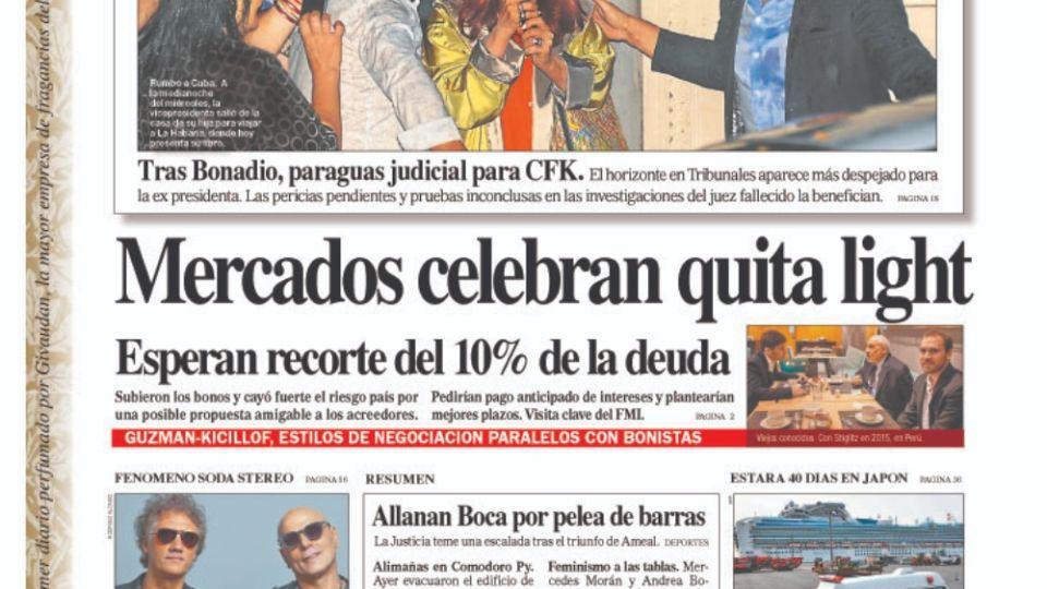 La tapa Diario Perfil.