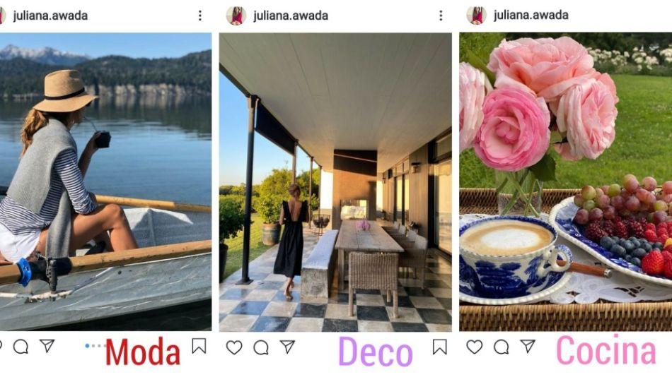Juliana Awada por tres. Vacaciones 2020