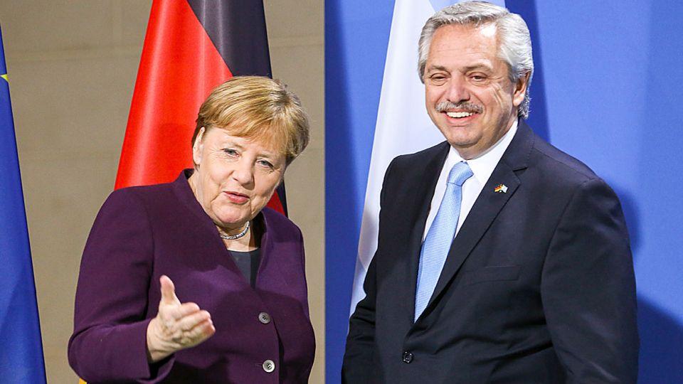 Merkel. La canciller germana fue una de las más enfáticas en el respaldo político al Gobierno.
