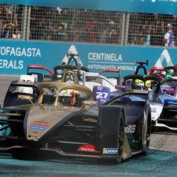 António Félix da Costa con el DS E-Tense FE19 en el pasado E-Prix de Santiago de Chile.