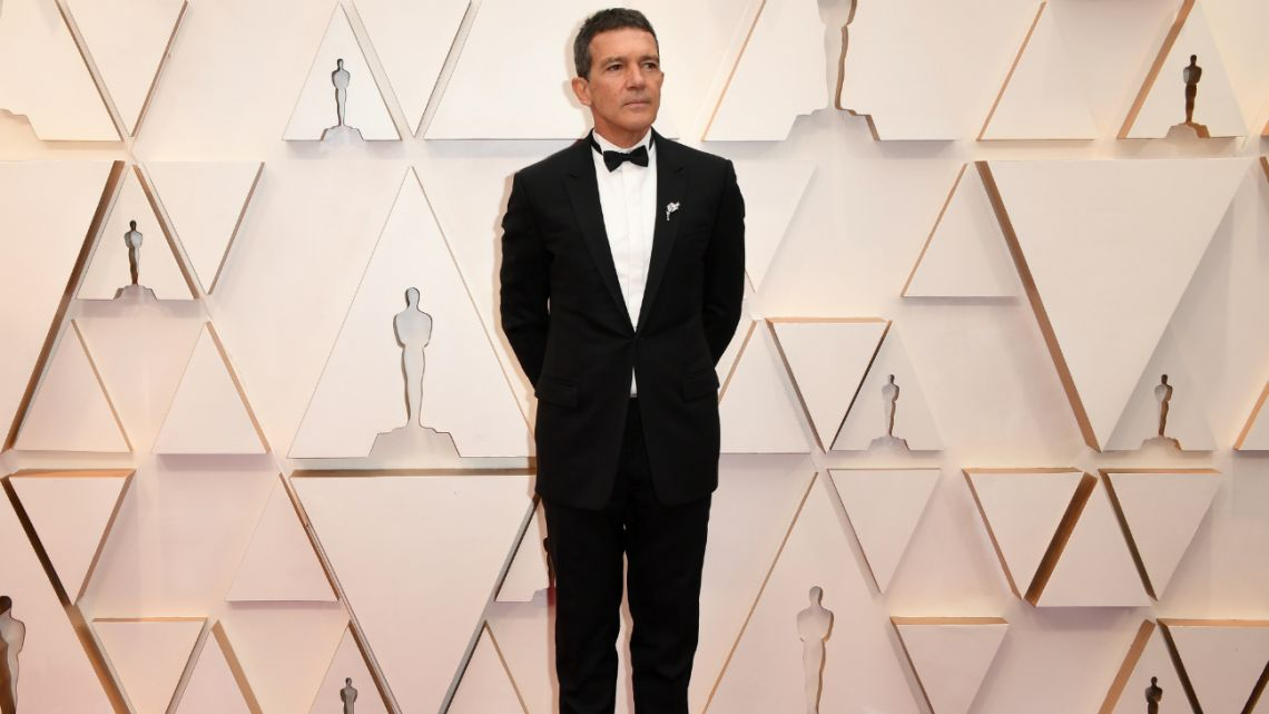 Spaniard actor Antonio Banderas arrives for the 92nd Oscars at the Dolby Theatre in Hollywood, California on February 9, 2020.