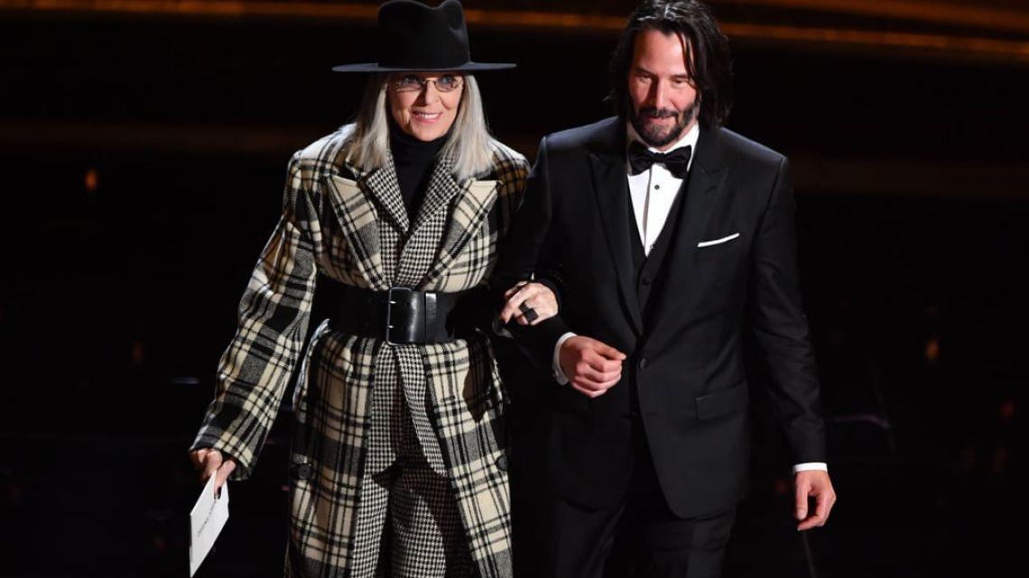 Diane Keaton y Keanu Reeves en los Oscars 2020   Foto:cedoc