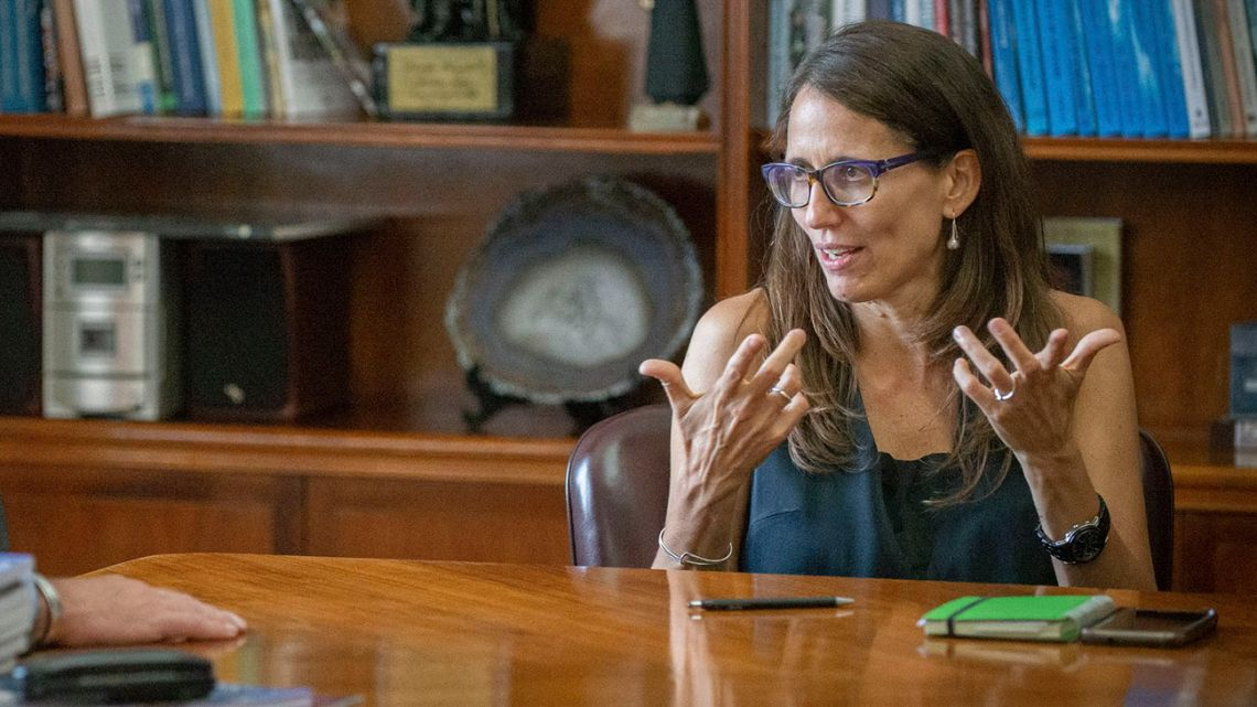 Women, Gender, and Diversity Minister Elizabeth Gómez Alcorta.