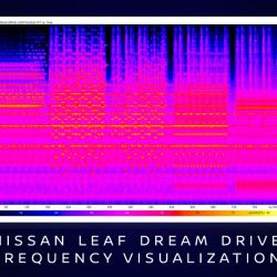 Visualización de frecuencia de Nissan Leaf Dream Drive.