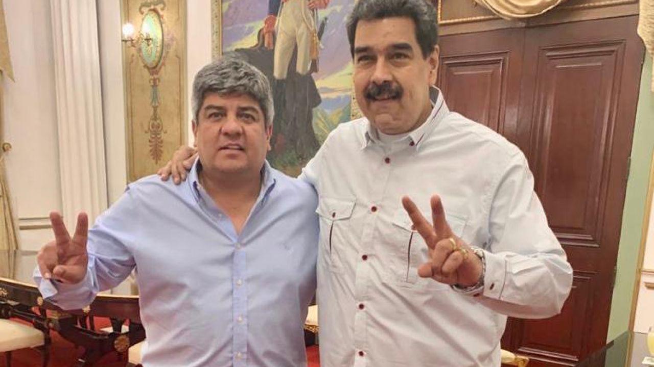 Pablo Moyano con Nicolás Maduro | Foto:Cedoc
