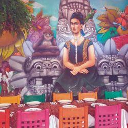 Mural del restaurante La Casa de Frida, dedicado a la pintora Frida Kahlo.