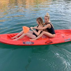 Julieta Prandi, travesía en Laguna Azul