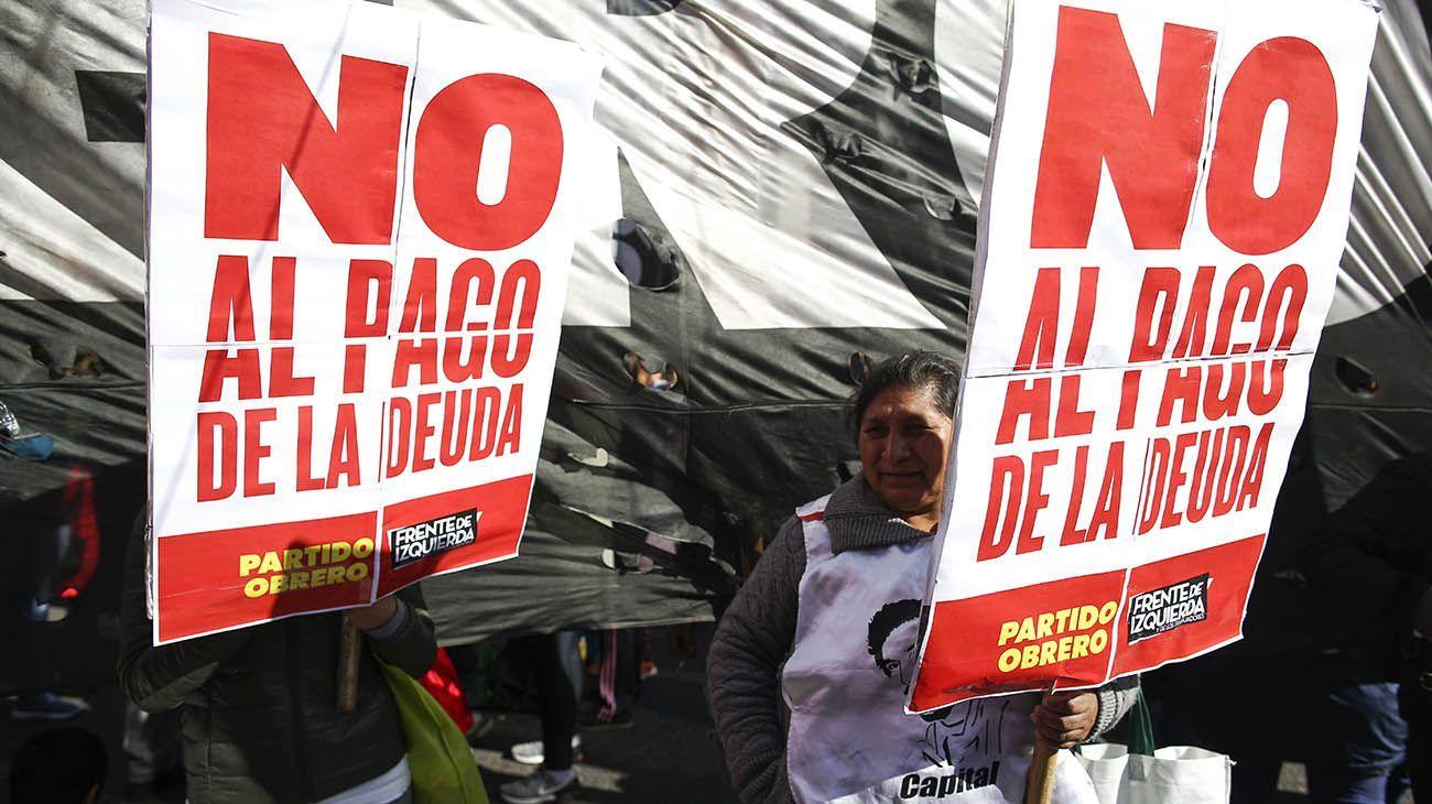 Protestas contra el FMI.