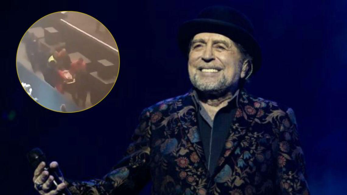 Joaquín Sabina cayó del escenario durante un concierto en Madrid