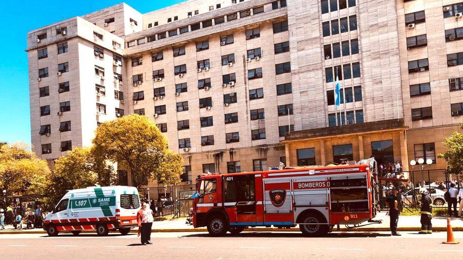 Incendio en Tribunales de Comodoro Py 20200212