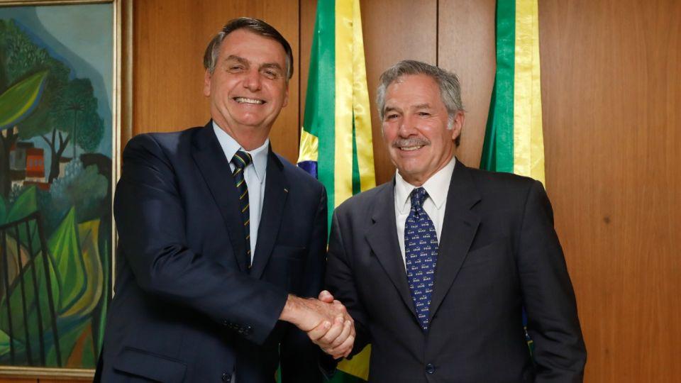 El presidente brasileño, Jair Bolsonaro, recibió al canciller argentino, Felipe Solá.