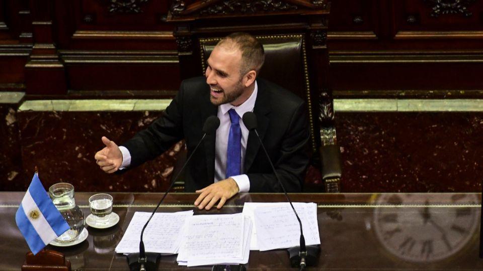 El ministro de Economía, Martín Guzmán, en el Congreso.