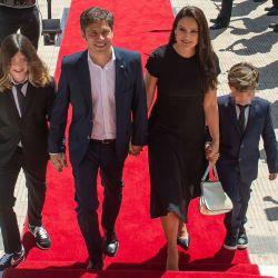 Axel Kicillof, Soledad Quereilhac y sus hijos. | Foto:CEDOC.
