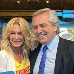 Alberto recibió a Yanina en la Rosada