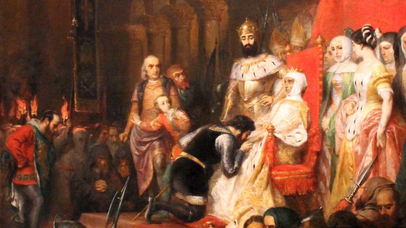 Derrotado por el dolor, Pedro I de Portugal hizo desenterrar el cuerpo de su amada para coronarla reina en 1357.