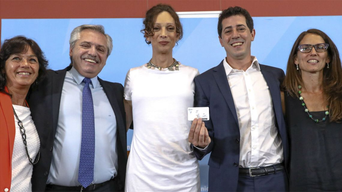 At an emotional ceremony presided over by President Alberto Fernández, Argentina on Thursday handed over the 9,000th national identity document (DNI) issued with rectified data due to a change in gender, a right established by Law since 2012.