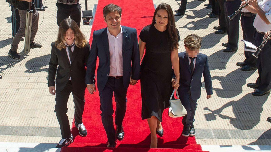 Kicillof, Soledad y sus hijos