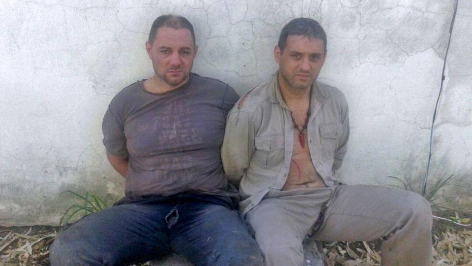 Cristian Lanatta y Víctor Schillaci, recapturados el 11 de enero de 2016 en Santa Fe.