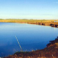 El río Salado al amanecer.