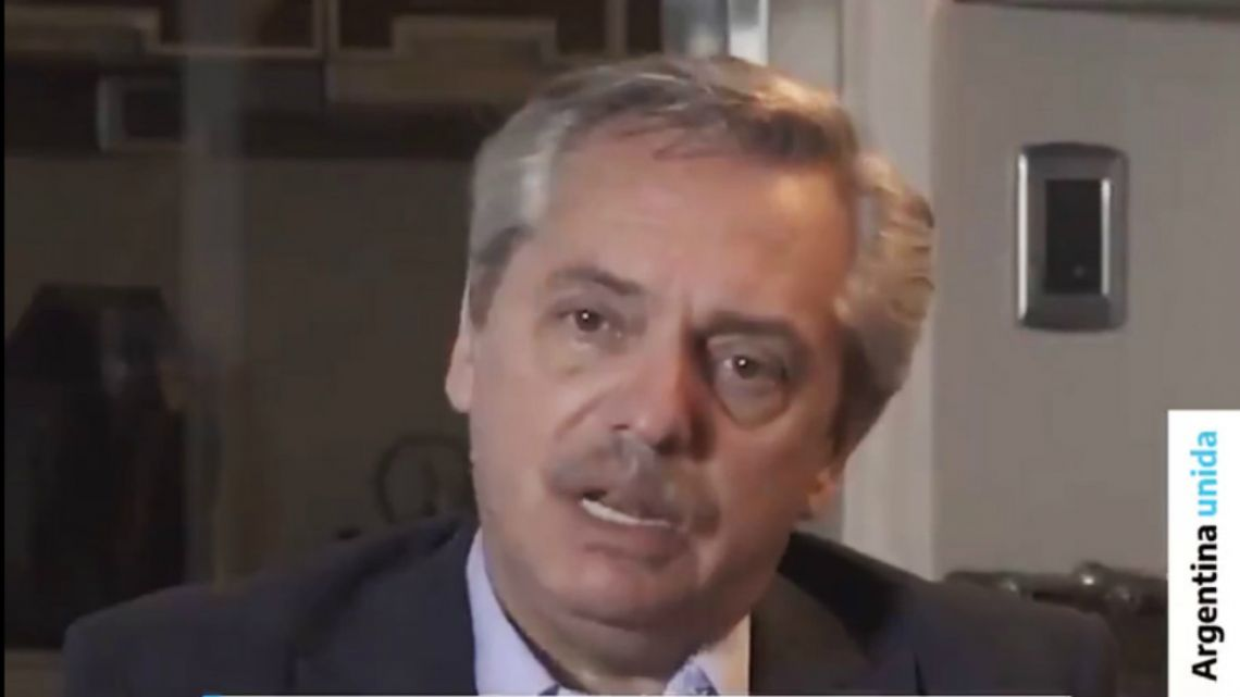 """President Alberto Fernández denounced on a """"Justice that decides and pursues according to the political winds"""" on February 18, 2020 through a video on his Twitter account"""