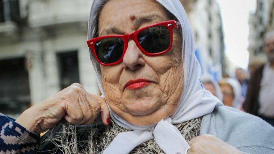 La presidenta de la Asociación de Madres de Plaza de Mayo, Hebe de Bonafini