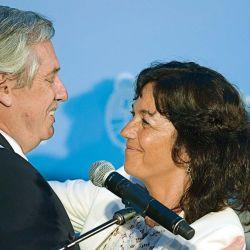 Alberto Fernández y Vilma Ibarra el día de la asunción.   Foto:Marcelo Escayola.