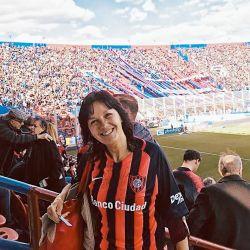 Vilma Ibarra en la cancha de San Lorenzo, su club.    Foto:CEDOC.
