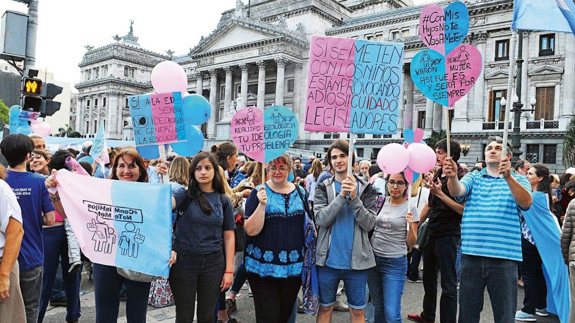 Marcha en contra de la Educación Sexual Integral | Foto:Cedoc