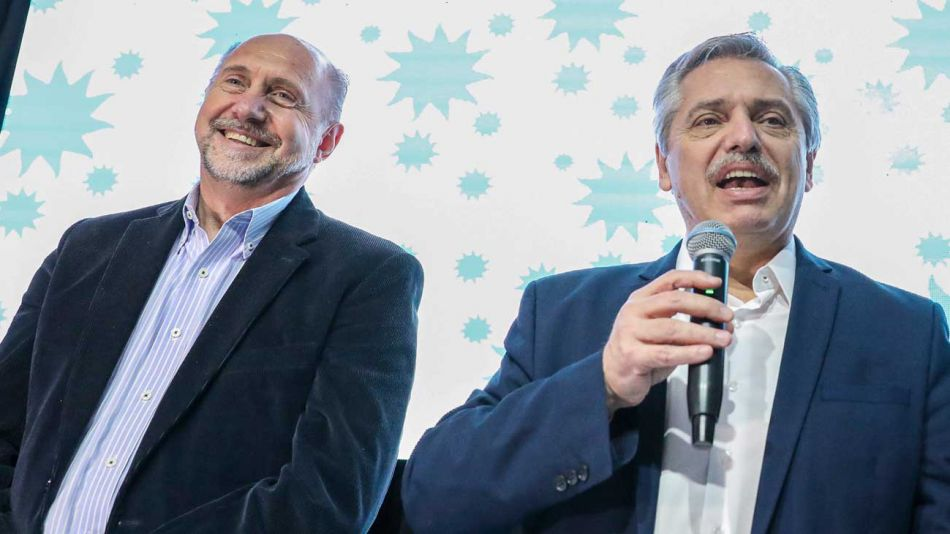 Oma Perotti y Alberto Fernández