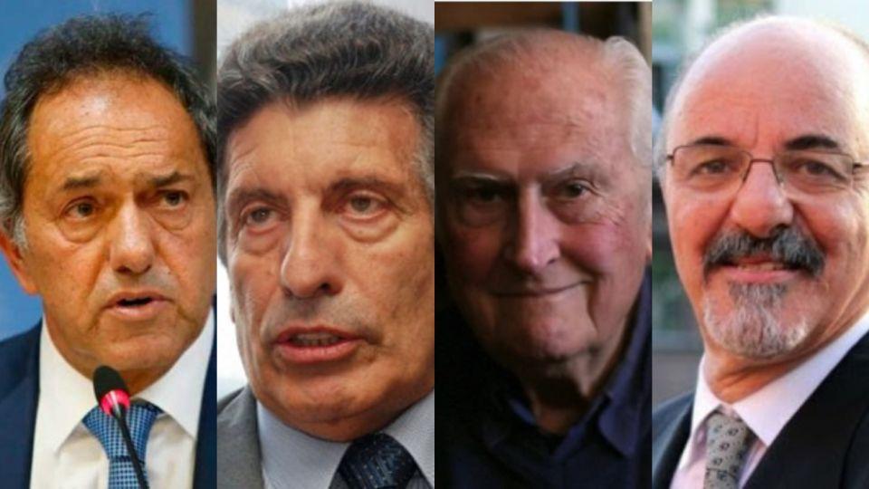 Daniel Scioli, Carlos Chacho Alvarez, Pino Solanas y Carlos Tomada
