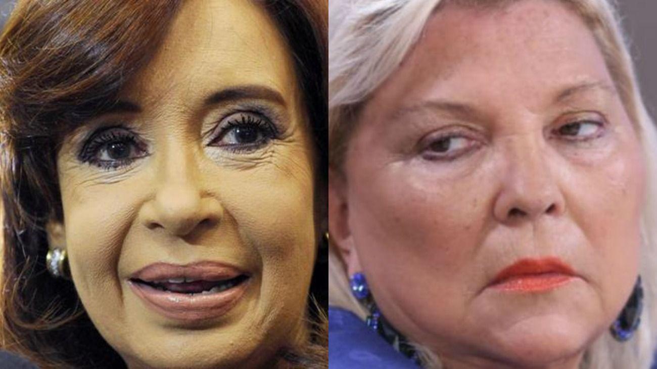 Carrió y CFK: enemigas íntimas.