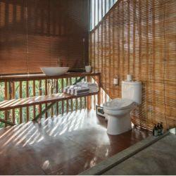 Diseño experimental de casas en los árboles de Bali